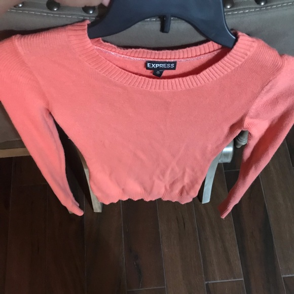 Express Sweaters - Coral longsleeve sweater